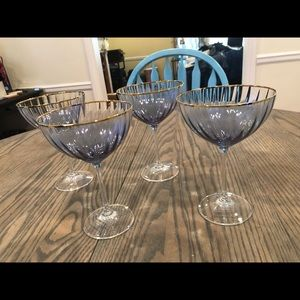 Anthropologie Dining - NWT Anthropologie Waterfall Coupe Glasses, Set (4)